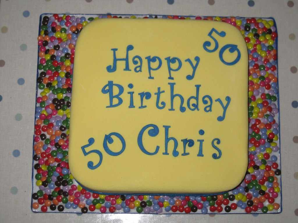 Phenomenal Chris 50Th Birthday Cake Sue Valentine Flickr Personalised Birthday Cards Sponlily Jamesorg