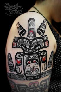 Native American Indian Tattoo Miguel Angel Custom Tattoo A Flickr