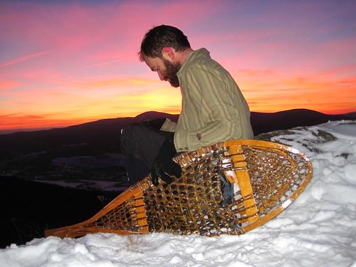 sunset northadams sprucehill traditionalsnowshoes savoymountainstatepark huronstyle henryrosslimited