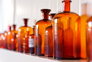 Old medicine glass bottles | by Tambako the Jaguar