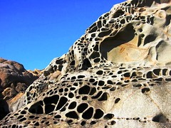Tafoni rock formation, Sonoma County, California