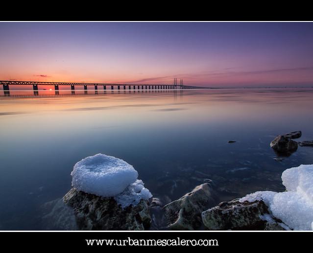 Sunset at Øresunds/Öresunds Bridge