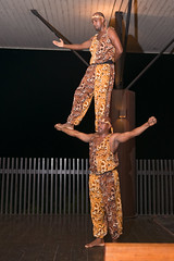 Dancers and Fire Eaters at Hotel Chocolat