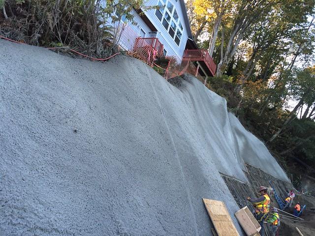 Rail -- Landslide Mitigation work October 2015
