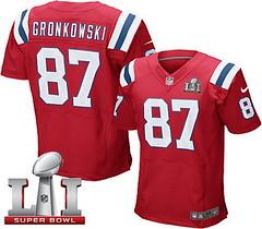 Nike Patriots #87 Rob Gronkowski Red Alternate Super Bowl LI 51 Men's Stitched NFL Elite Jersey