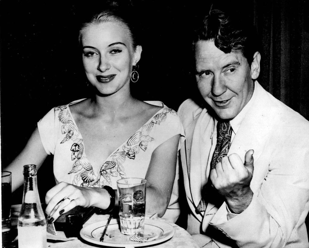Burgess Meredith's and Kaja Sundsten (1949)   (BACK) Actor B…   Flickr
