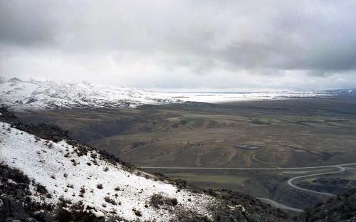 newzealand panorama mountain holiday snow outdoor valley otago plain earnscleugh