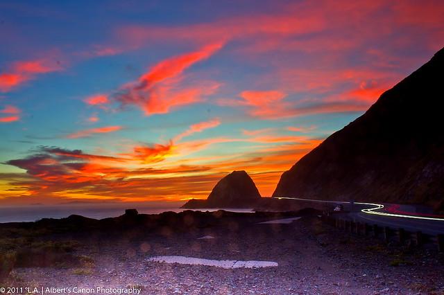 Burning Sunset at Point Mugu Rock (12.12.11 Explored # 71)