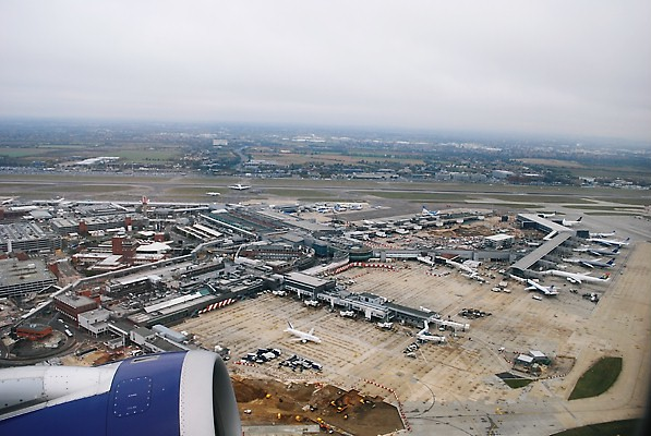 Heathrow Airport from the air