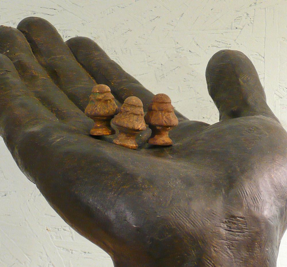 Vintage-Iron-Mushroom-Finials | Brass plated cast iron, deli