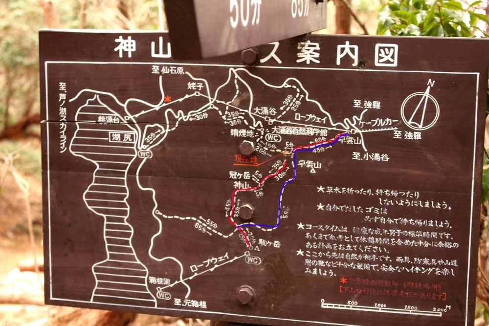 箱根山コースマップ