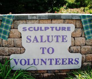 Tartan mash-up: Volunteers