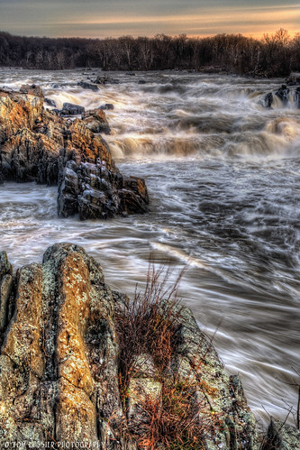 winter usa water forest sunrise river landscape virginia waterfall nationalpark nikon greatfalls falls tomlussier