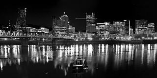 Portland skyline in B&W | by stokes rx