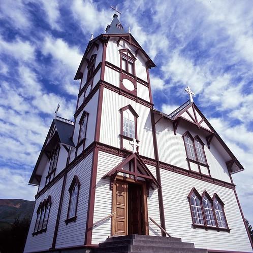 """Image titled """"Church, Húsavík, Iceland."""""""