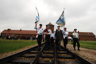 "IDF ""Witnesses in Uniform"" Delegation March Into ""Auschwitz-Birkenau"" Concentration Camp 