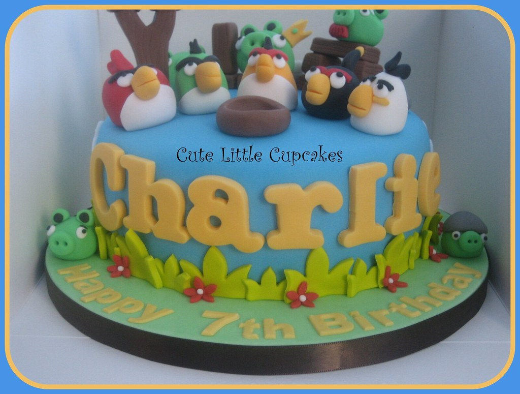 Fabulous Angry Birds Birthday Cake Heidi Stone Flickr Funny Birthday Cards Online Sheoxdamsfinfo