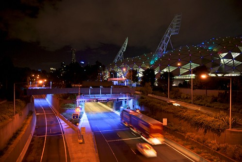 Tiny lights on AAMI Stadium, Melbourne | by Joe Lewit