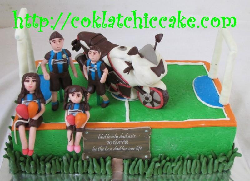 Kue Ulang Tahun Motor Ninja Kawasaki Lapangan Futsal Flickr