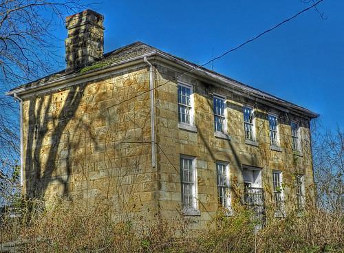 autumn stone weeds vacant pikecountyohio deserted stonehouse dok1