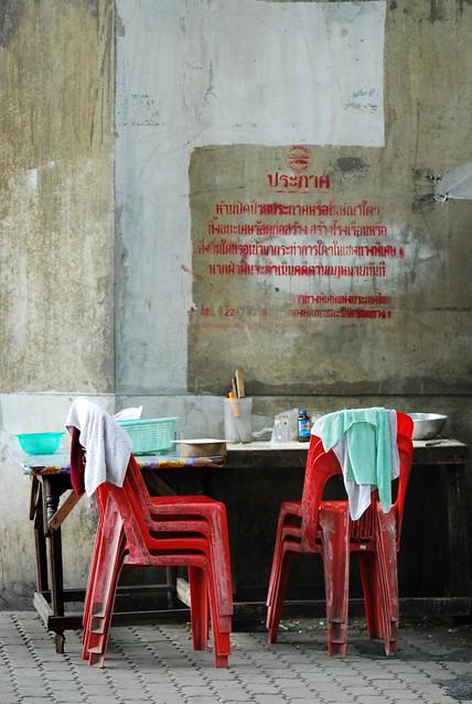 a street restaurant pantry