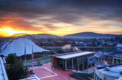 sunrise over the pav | by Bob Mical