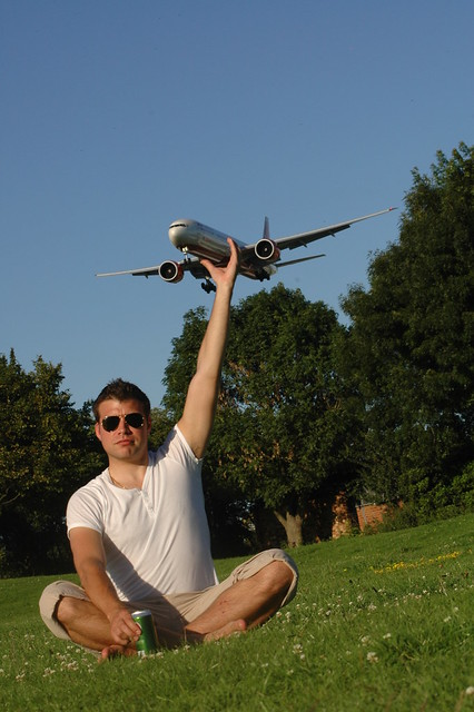 forced perspective aeroplane