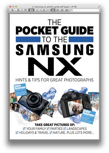 The Pocket Guide to the Samsung NX (PDF) | by ** David Chin **