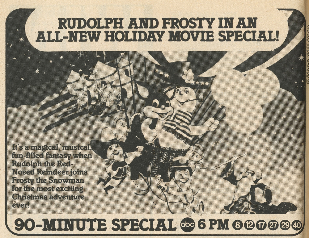Rudolph And Frostys Christmas In July.Rudolph And Frosty S Christmas In July Tv Guide Ad Flickr