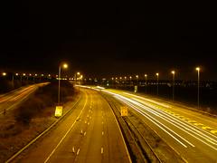 M5 Motorway Lighting - Looking Northbound at J4a.