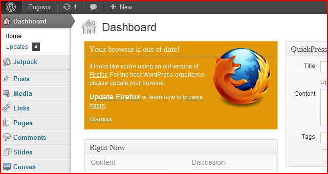 Wordpress Browser Update | As seen in Firefox 3 6 | Flickr