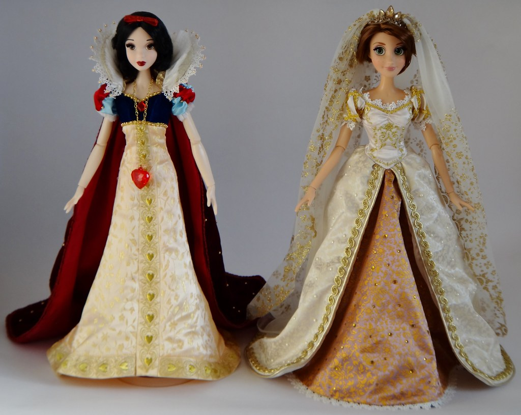 Snow White and Wedding Rapunzel Limited Edition 17'' Dolls