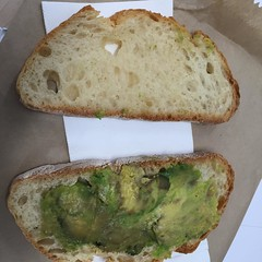 Seriously, how do you mess up avocado and toast?  Clearly, like this.  #fail #fridayfail #nthsyd #viadellaspiga #neveragain #avocadotoast #avocado #badcafe