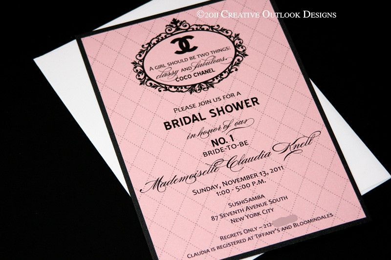 Coco Chanel Bridal Shower Invitation Interested You Can P Flickr