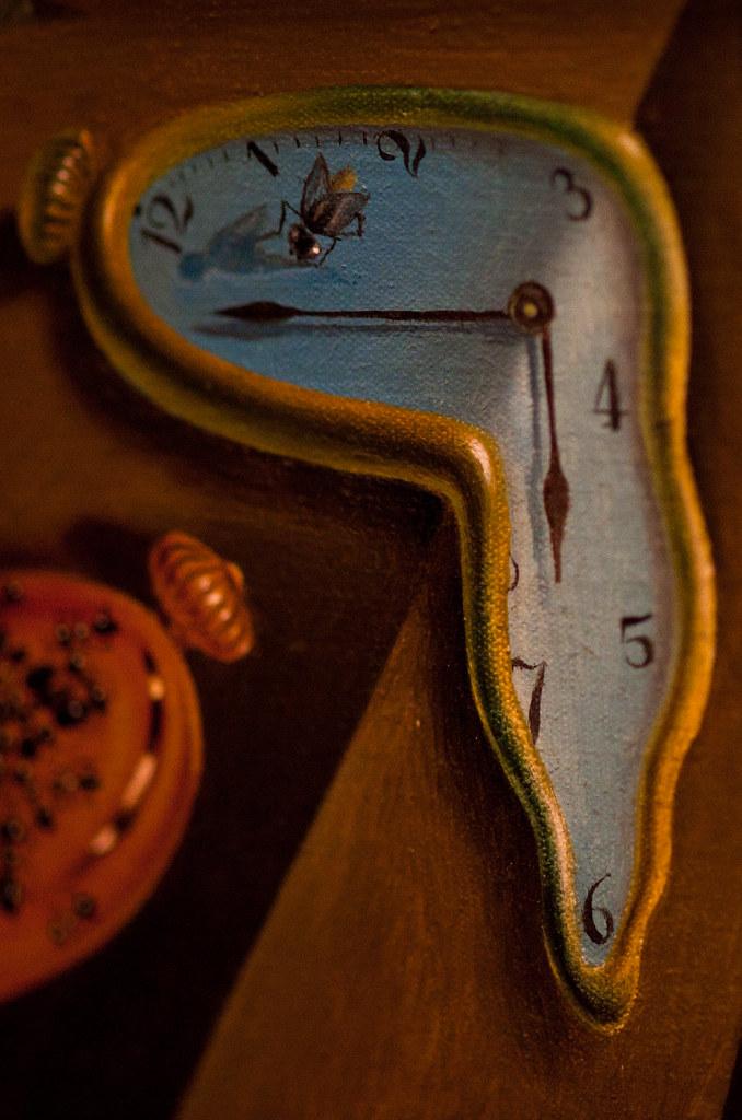 Close-up Photo of Salvador Dali's painting 'The Persistence of Memory' | 110926-2497-jikatu