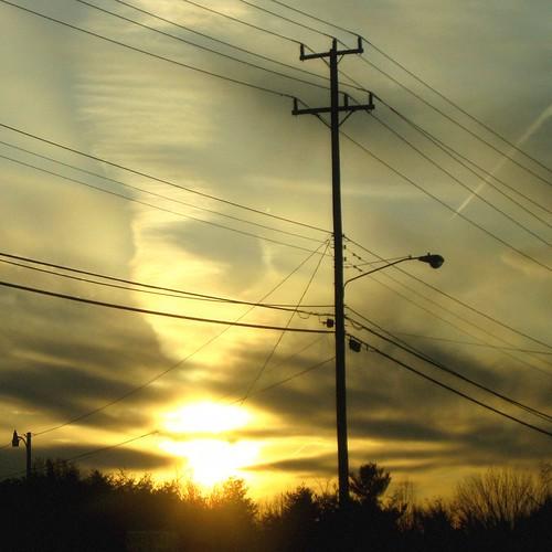 light sunset lines clouds day power cloudy va dcist fairfax flipmode79