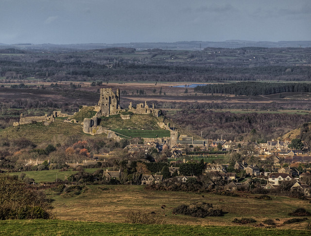 Corfe Castle from a distance