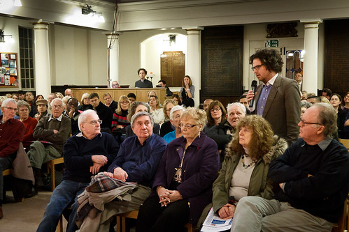 Man demanding answers at Thames Water public meeting - 12 January 2012
