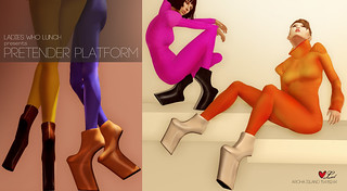 Ladies Who Lunch   Pretender Platforms   by Miaa Rebane
