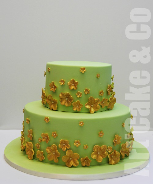 Green And Gold Wedding Cake My Favourite Cake Flickr