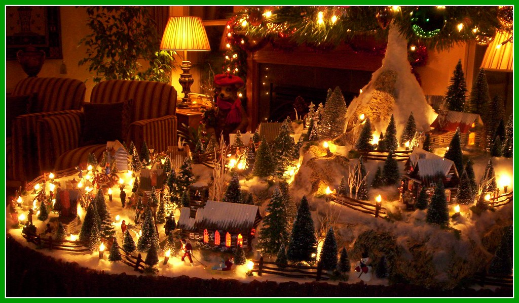 Log Cabin Christmas.Linda S Log Cabin Christmas Putz 7 10 Japanese 4 Karl Fey