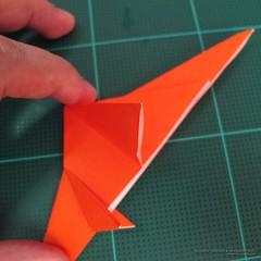 วิธีการพับกระดาษเป็นรูปไดโนเสาร์ (Origami Dinosaur) 007