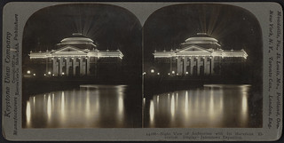 Night view of auditorium with its marvelous electrical display - Jamestown Exposition | by Boston Public Library
