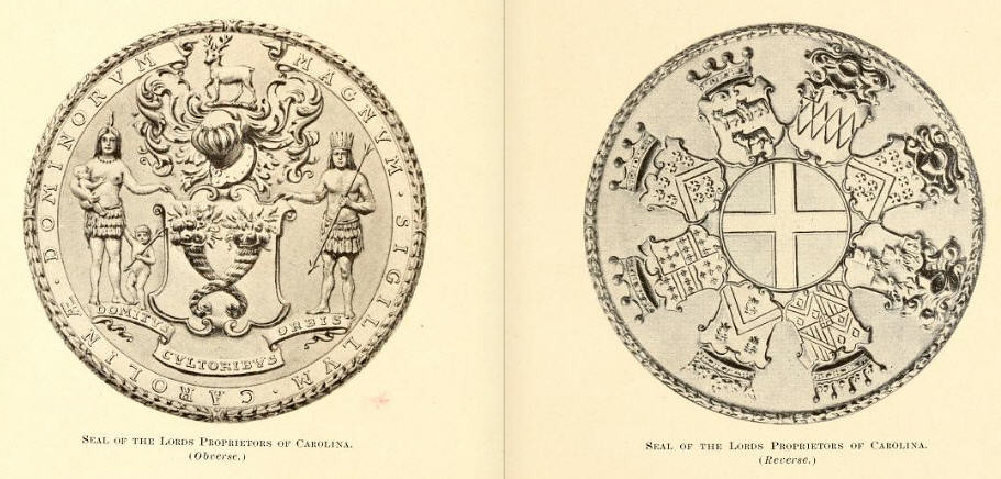 Seal of the Lords Proprietors of Carolina | From the North C