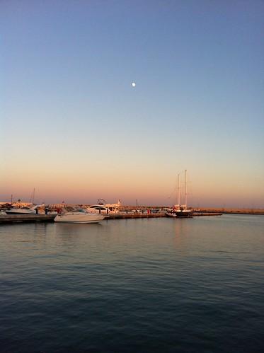 sunset sea moon fall marina turkey boats mediterranean dusk mersin seasunclouds
