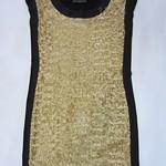 1224019(-针织拼网纱订亮片裙 2 4 6 浅黄-深黄色-咖啡色-灰色-玫红色   胸90 长82 (8)