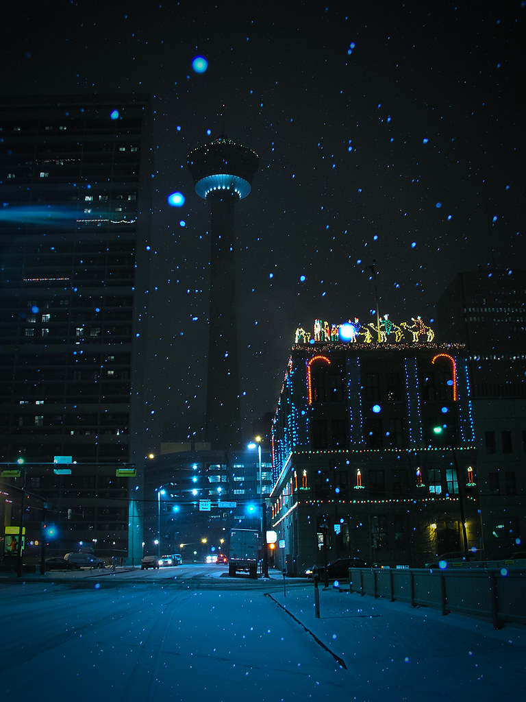 Christmas In Calgary Canada.It S Christmas Time In The City Calgary Alberta Canada D