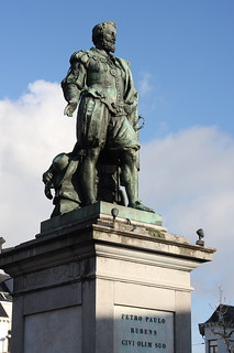 Rubens statue: Antwerp: December 2011   by amodelofcontrol