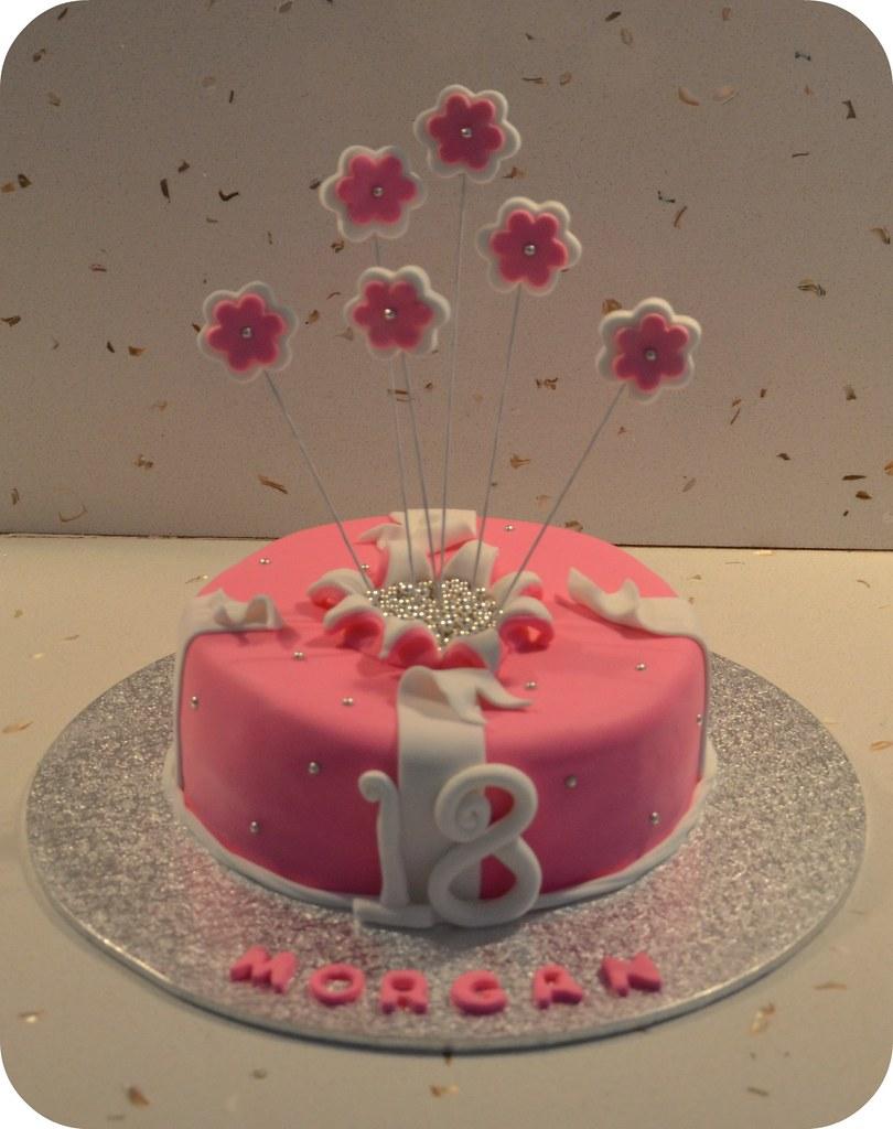 Exploding Flowers 18th Birthday Cake