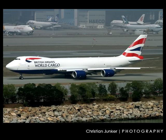 B747-8/F   British Airways World Cargo   G-GSSF   HKG